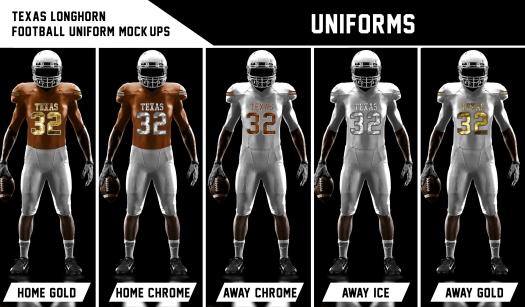 UT Uniforms Chrome Alternates